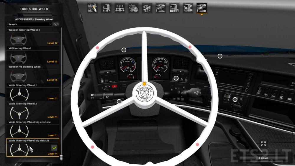 Vabis Steering Wheel For Scania Rjl Ets 2 Mods