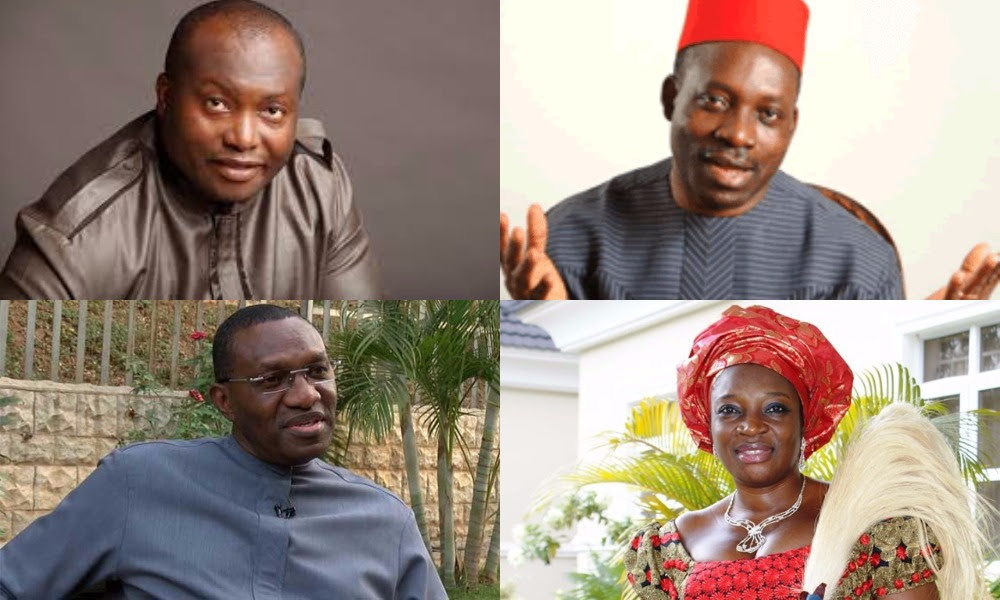 Image result for pictures of Andy Uba and other guber aspirant