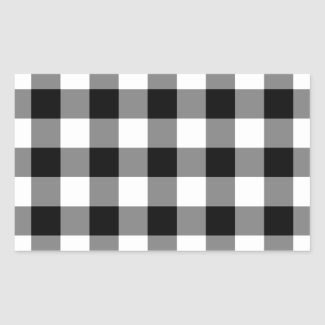 Black and White Gingham Pattern Sticker