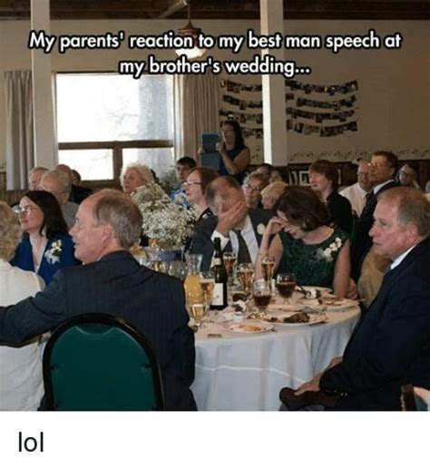 My Parents Reaction to My Best Man Speech at My Brother's