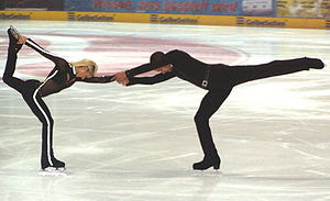 Aljona Savchenko and Robin Szolkowy at the sho...
