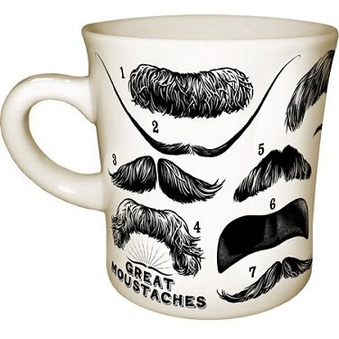 Great Moustaches Mug! This would make such a fun gift! #uniquegifts #mustache #moustache #mug #coffeemug www.gmichaelsalon.com