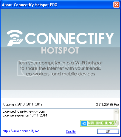 Connectify PRO 3.7.1.25486