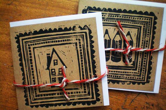 Lino Cards