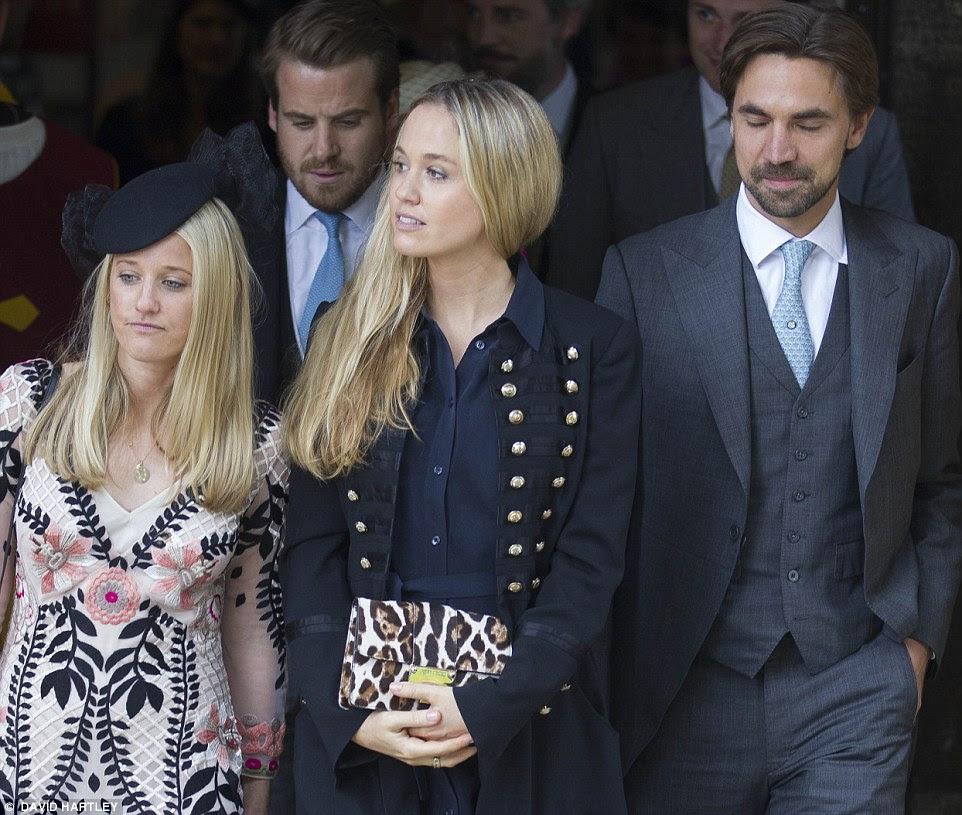 Ex-namorada do príncipe Harry e modelo de lingerie Florence Brudenell-Bruce deixa o casamento com o marido Harry St. George