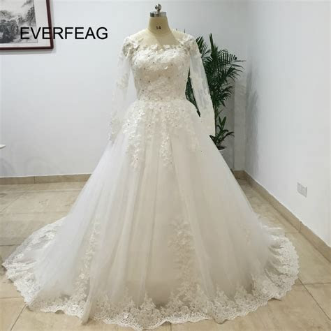 Luxury Cathedral Train Ball Gown Wedding Dresses 2017 Lace
