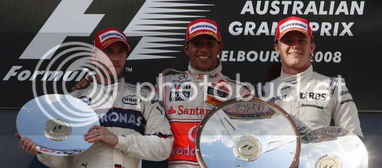 Podio GP de Australia 2008