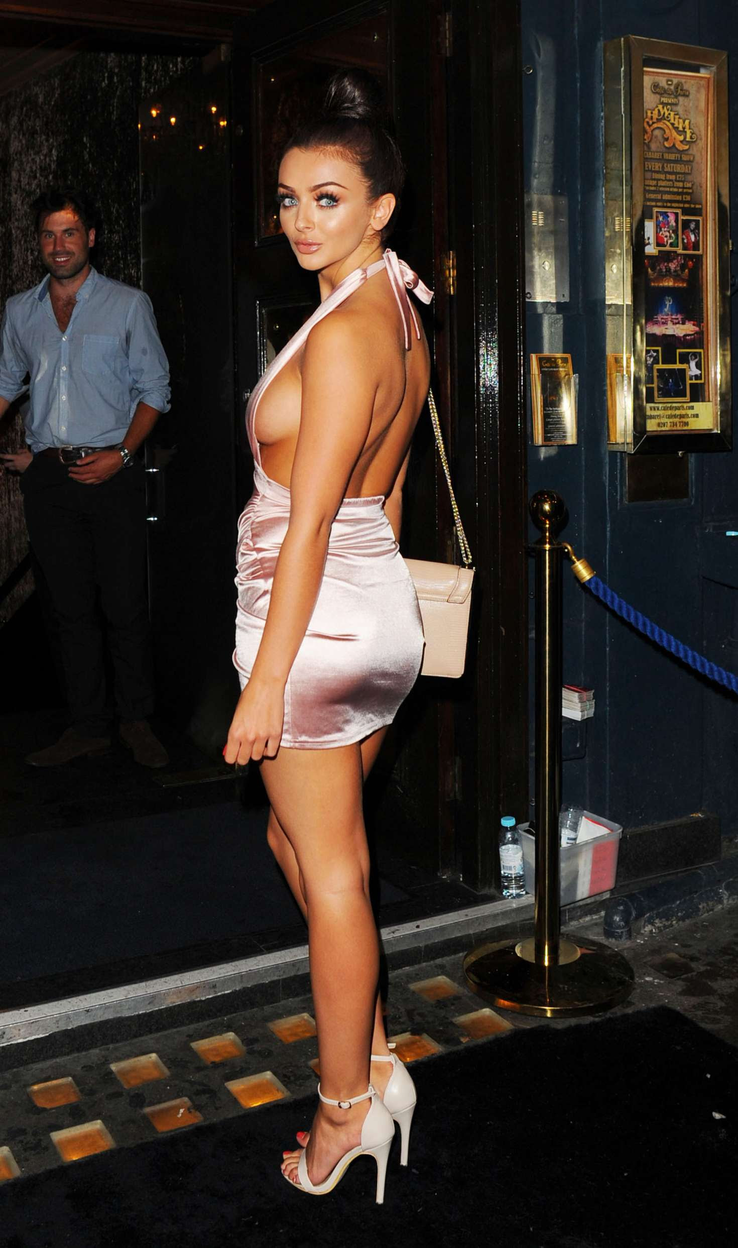 Kady McDermott in Short Dress at Cafe De Paris in London