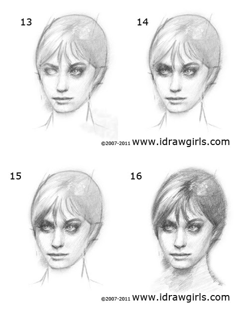 How to draw face step 4