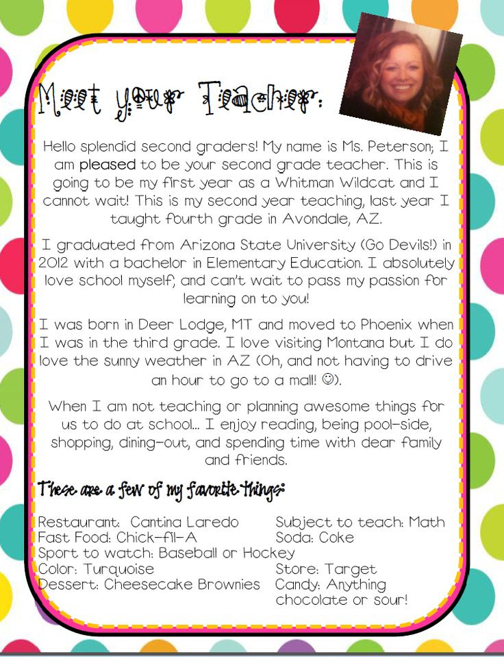 1000+ ideas about Teacher Introduction Letter on Pinterest ...