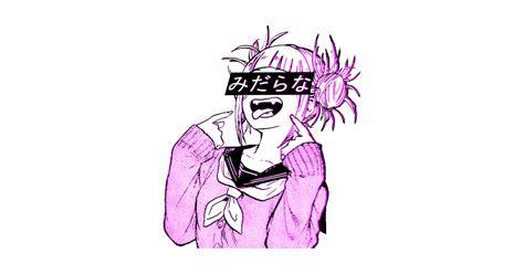 lewd pink sad japanese anime aesthetic aesthetic