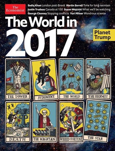 """L'enigmatica copertina di Economist per il 2017: spaccatura in seno alla cristianità? giudizio sul mondo? La Morte? Un astro misterioso per fine anno. Spesso le """"profezie"""" di Economist si avverano. Nei bei tempi """"previde"""" l'uccisione di Moro con mesi di anticipo, con una copertina che diceva: """"E' finita la commedia"""" in italiano nel testo."""
