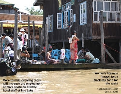Myanmar's Lake Inle - boat quay. Asiahomes.com Travels and Tours
