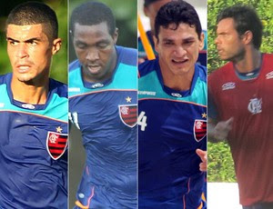 Egídio, Renato, Angelim e Rodrigo Alvim (Foto: Editoria de Arte/GLOBOESPORTE.COM)
