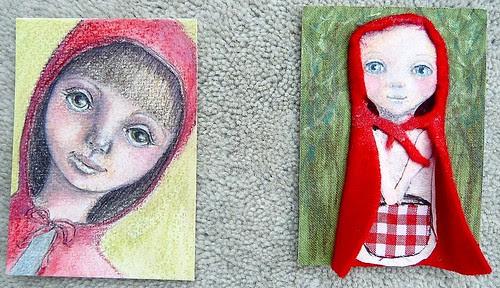 ATC's - Little Red Riding Hood by Blissful Pumpkin
