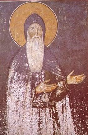 Фреска св. Симеона из манастира Студеница