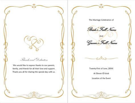 37 Printable Wedding Program Examples & Templates ?
