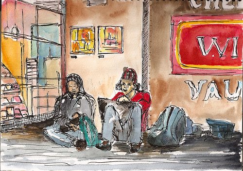 Sketchcrawl 25 - In front of Chelsea Wine Vault