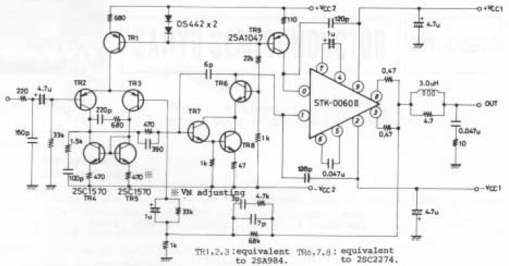 stk power amplifier circuits 300w stk power amplifier circuits 300w - circuit diagram images