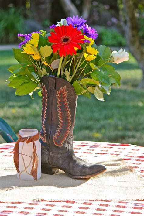 Cowgirl Boots With Flowers   Cr Boot