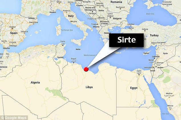 Stronghold: The jihadist group has established a base with thousands of fighters in the coastal city of Sirte