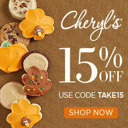 Happy Easter! Enjoy 15% Off delicious gourmet cookies, cakes, snacks and more at Cheryls.com! Use Promo Code TAKE15 (Offer ends 03/27/2016 or while supplies last)