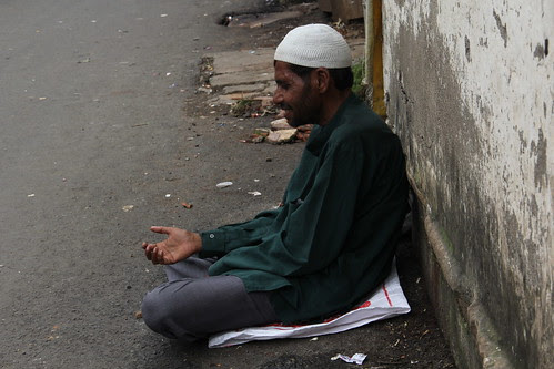 The Muslim Beggar .. Talks To Himself It Is A Good Therapy Better Than Talking To Others by firoze shakir photographerno1
