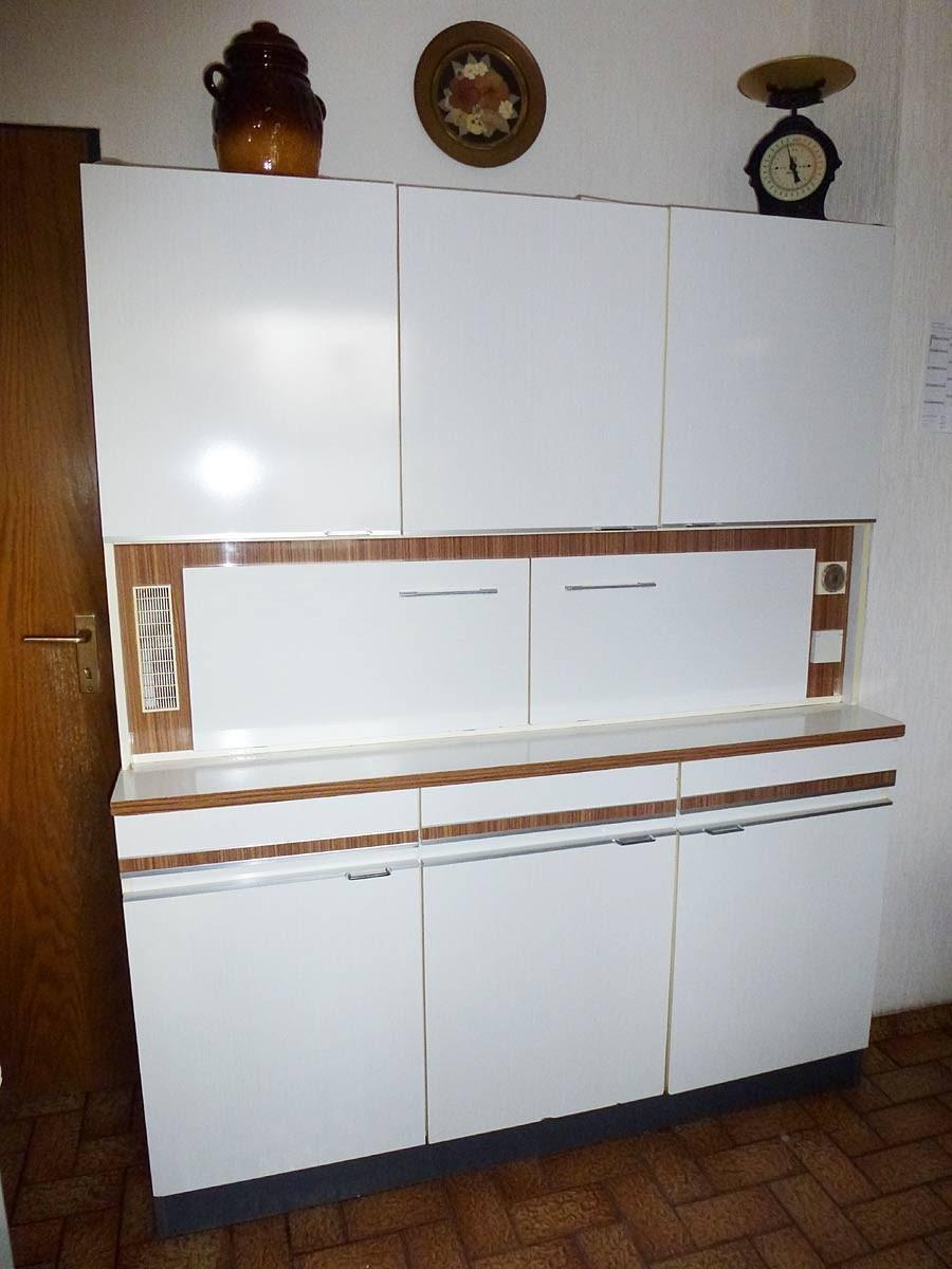 küchenschrank schrank buffet 70er jahre retrostil in weiß