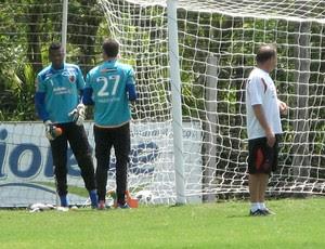 Felipe no treino do Flamengo (Foto: Cahê Mota/Globoesporte.com)