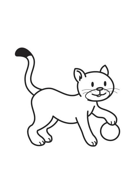 coloring page cat  ball  printable coloring pages