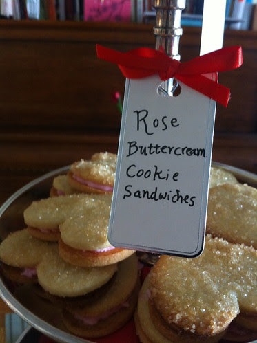 Rosewater Buttercream Cookies