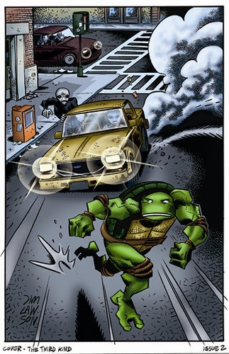 Michelangelo - Tales of the TMNT ..sneek peek // Cover Art by Jim Lawson, Colour by Steve Lavigne [[ Courtesy of S. Lavigne ]]