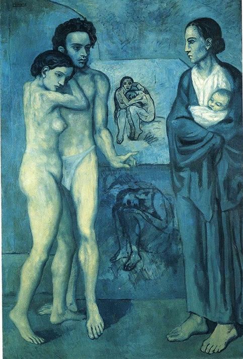 """""""La vida"""", es considerado una obra maestra del periodo azul de Picasso y uno de sus trabajos más importantes de esos años."""