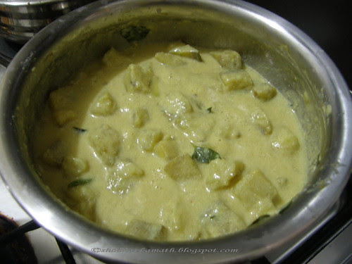 Raw Banana curry 9