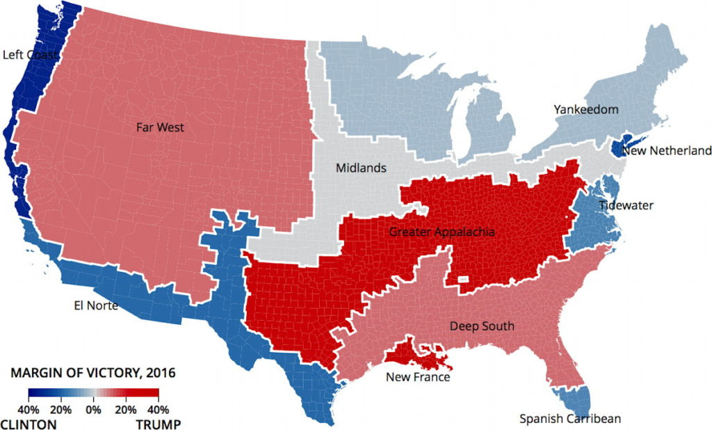 American Nations Applied To The 2016 Election The Map Room