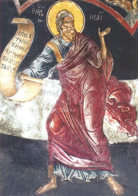 Ἀπὸ τὸ Ἁγιολόγιο τοῦ μηνὸς: Προφήτης Ἠσαΐας, 9 Μαΐου