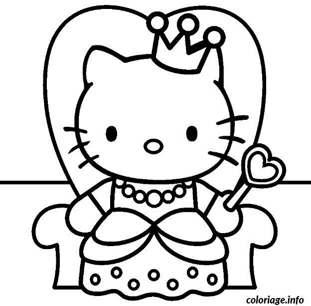 Coloriage Princesse Hello Kitty En Ligne Coloriage Hello Kitty Joue