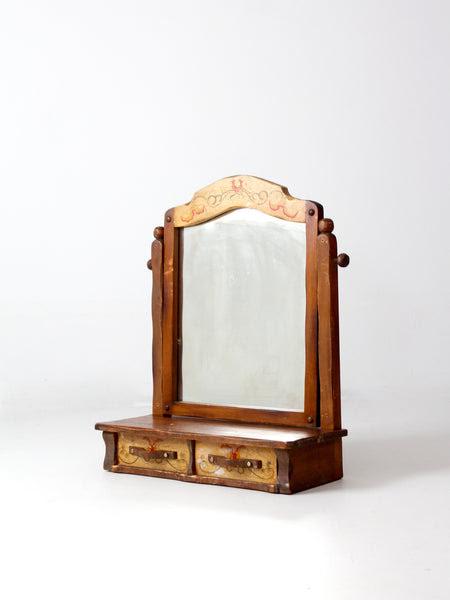 Vintage Monterey Style Dresser Top Vanity Mirror 86 Vintage