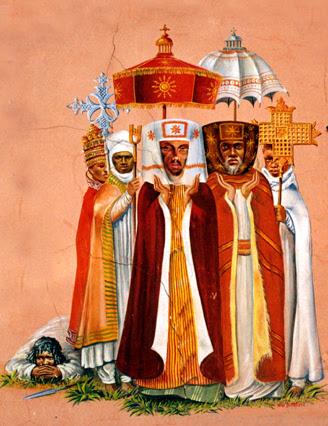 processione di ecclesiastici copti