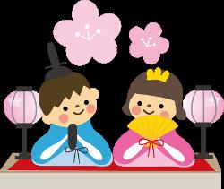 ひな祭り キャラクター雛人形 お祝いごとはっぴぃノート