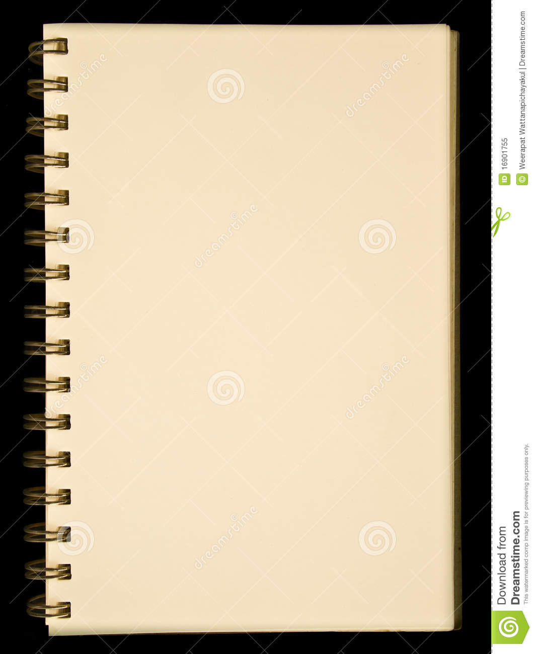 Blank Yellow Page Notebook Royalty Free Stock Photo - Image: 16901755