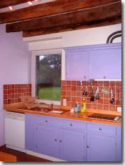 Fitted kitchen in our holiday cottage