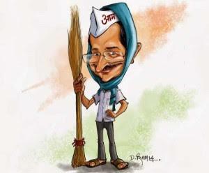 arvind kejriwal cartoon