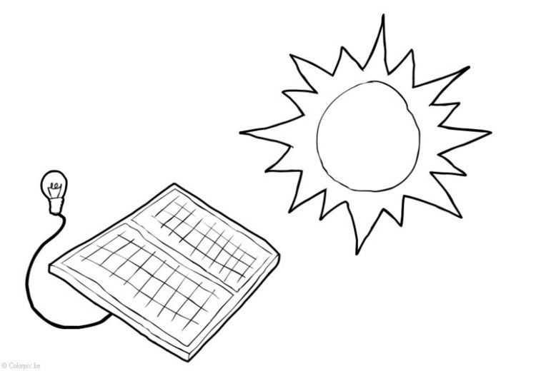 Güneş Enerjisinin Faydalari Boyama Sayfasi 3 Okul öncesi