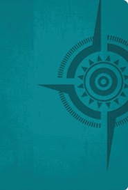 Compass- The Study Bible for Navigating Your Life, Leathersoft, peacock blue  -