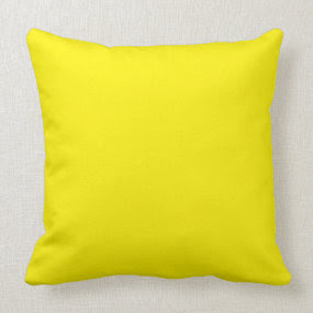 Yellow throwpillow