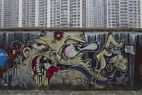 Graffiti art on Moganshan Rd.