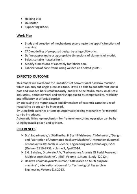 Design and fabrication of multi way hacksaw machine REPORT