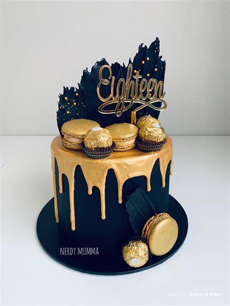 Top Black & Gold Cakes   Magnificent Mouthfuls Cupcakes