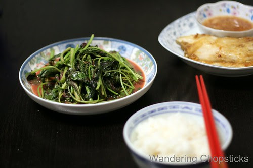 Rau Den Xao Chao (Vietnamese Amaranth  Chinese Red Spinach Sauteed with Fermented Bean Curd) 7